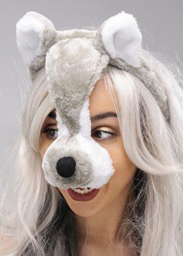 Grau Werwolf Headpiece Wolf (Stirnband Wolf Ohren)