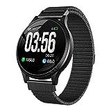 JTYR Smart Watch, Fitness Tracker Watch Waterproof IP67 Activity Tracker con Monitor de Ritmo cardíaco, Contador de calorías, Monitor de sueño, cronómetro y cronómetro para Mujeres Hombres,Black