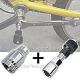 EMOTREE Fahrrad Tretlager Kurbel-Abzieher 2 in 1 Set Reparatur Kurbelabzieher Fahrradwerkzeug