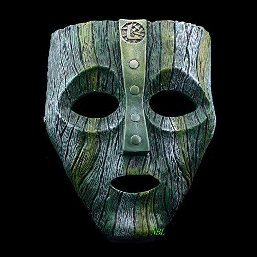 MONWSE Halloween Harz Masken Venezianische Maske Der Gott des Unfugs Maskerade Replik Cosplay Kostüm Requisiten (Von Gott Zum Frauen Kostüm)
