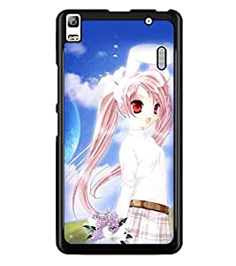 PrintDhaba Cute Doll D-2246 Back Case Cover for LENOVO A7000 (Multi-Coloured)