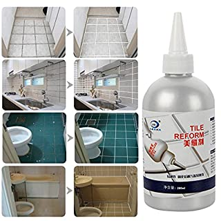 Tile Grout Filler Repair Grout Granite Penetrating Sealer Works on Marble, Travertine, Limestone, Slate. Protects Against Water & Oil Based Stains. Designed for Floors & Showers (White 150ML)