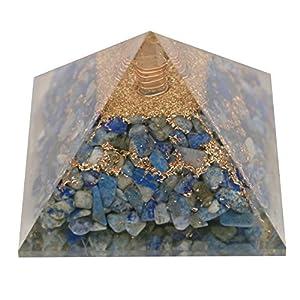 Aatm Healing Gemstone Lapis Lazuli Orgone Pyramid Stone for Enlightment