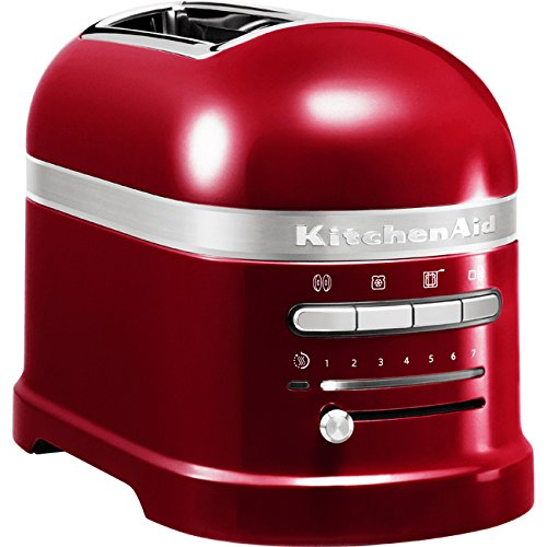 KitchenAid 5KMT2204ECA - Tostadora,1250 W, color rojo, 220-240 V, 50-60 Hz