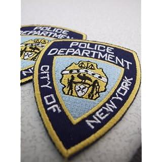 4 x NYPD 9 x 6 cm Bügelbild Aufnäher Applikation Emblem