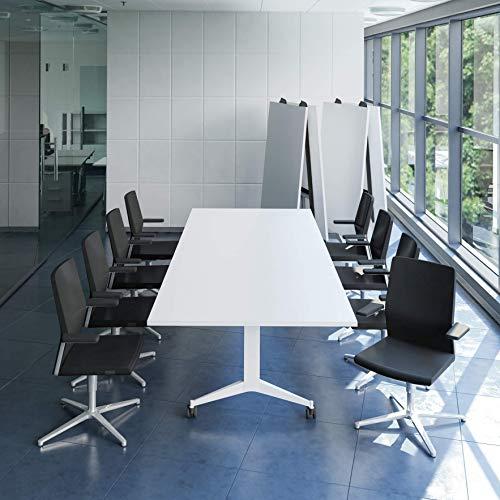 WeberBÜRO Falttisch Klapptisch 3.200 x 1.200 mm Timmy Weiß Konferenztisch klappbar rollbar...