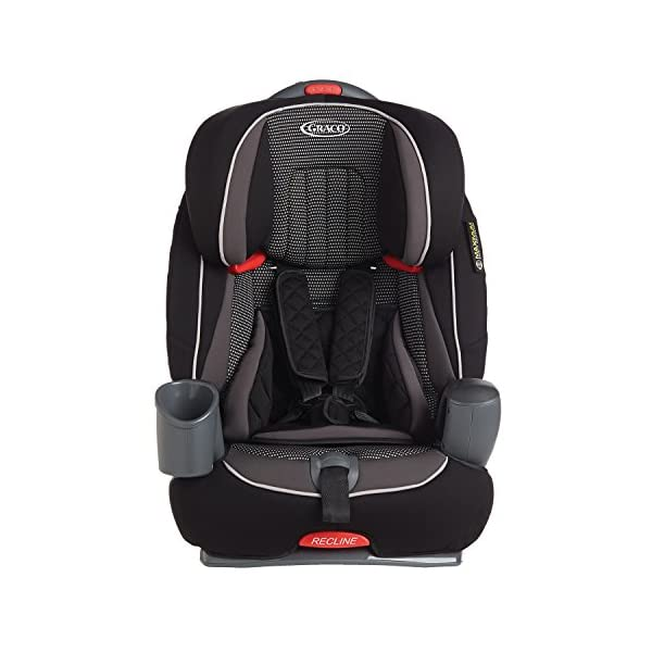 Graco Nautilus Harnessed Booster Car Seat Group 1/2/3, Gravity Graco 3-in-1 convertible car seat For children 9 to 36 kg (approx. 9 months to 12 years) Convenient one-hand height-adjustable headrest 2