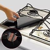 Universale a gas riutilizzabile Stovetop Burner Protector antiscivolo copertura Pad per pulizia utensili da cucina 2pezzi Nero