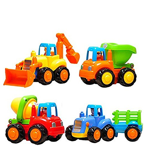 Playking Happy Engineering Unbreakable Automobile Car Toy Set of 4 for Kids, Multicolor