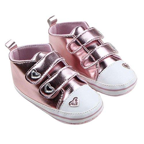 Clode® Rosa Mädchen Säuglings Sneaker Sohle Weich Krippe Schuhe gg1wfq