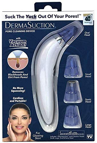 MW Mall India Multi-function Blackhead Whitehead Extractor Remover Vacuum Action Device - Portable and Cordless Acne Pimple Pore Cleaning Device With 4 Interchangeable Suction Head For Men And Women