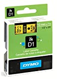 Dymo D1 Standard Self-Adhesive Labels for LabelManager Printers, 12 mm x 7 m - Black Print on Yellow