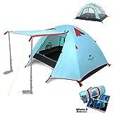 Topnaca® 1 2 3 4 Person Camping Zelt Wasserdichte Markise Design Zwei Türen...