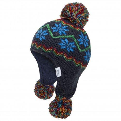 Trespass - Gorro con Orejeras para Invierno Modelo Twizzle para bebé (One Size/Azul)