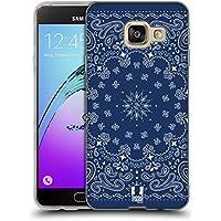Head Case Designs Bleu Bandana Cachemire Classique Étui Coque en Gel molle pour Samsung Galaxy A3 (2016)