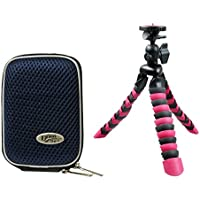 Camera Case Hardbox Blue Set with Travel Tripod