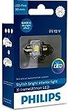 Philips 12941I60X1 X-tremeUltinon LED éclairage intérieur Voiture C5W 30mm Festoon 6000K 12V, 1 pièce, Xenon White, 30 mm