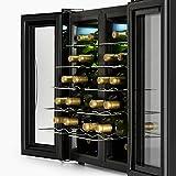 Klarstein SaloonNapa – Weinkühlschrank, zweitüriger Getränkekühlschrank, niedriges Betriebsgeräusch, 10 Einschübe, Temperaturbereich: 11 bis 18 Grad, 67 Liter Volumen, 24 Weinflaschen, schwarz - 8