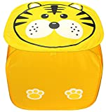 "PIGLOOâ""¢ Square Foldable Pop up Toy Storage Basket, Laundry Bag Hamper for Kids with Lid"
