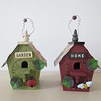 Preisvergleich für Vogelhaus Sparen Dosen Land,Solide Holz Nest Piggy Bank Handarbeit Holz Dekoration Vogel Haus Sparschwein