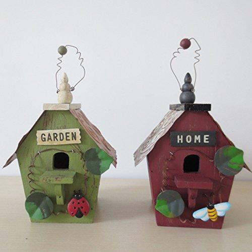 Vogelhaus Sparen Dosen Land,Solide Holz Nest Piggy Bank Handarbeit Holz Dekoration Vogel Haus Sparschwein Holz Piggy Bank