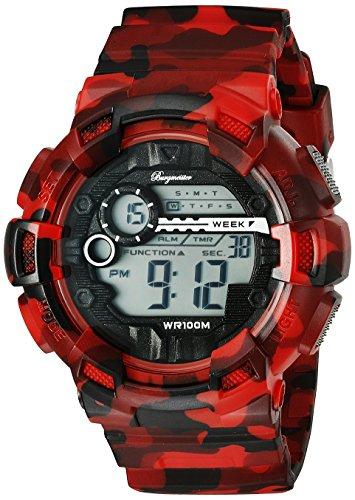 Burgmeister Men's Quartz Watch with LCD Dial Digital Display and Multicolour Plastic Bracelet BM803-024