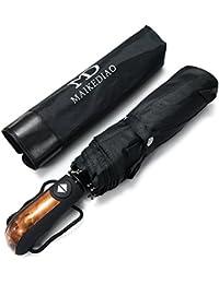 Parapluie Pliant Automatique Voyage Pliable Résistant Au Vent Testé à 55 km/h Incassable Ouverture et Fermeture Automatique Compact et Solide Anti-UV Protection 99% de UV 10 Baleines