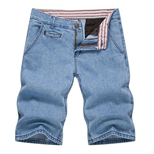 MOIKA Mens Boys Sommer Denim Shorts Jeans beiläufige Denim-Hosen(2XL,Hellblau) (Bootcut-hose Petite)