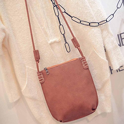 Igemy Mode Frauen Leder Handtasche Crossbody Schulter Messenger Telefon Münze Tasche Brown