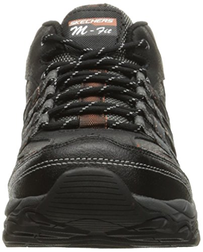 Skechers Sport Mens Afterburn M. Fit Mid-High Sneaker Black/Charcoal