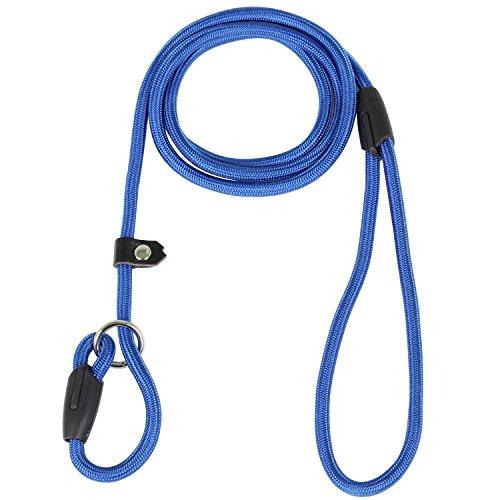 DIGIFLEX Rutschfeste Blaue Hunde Leine Nylon und Baumwolle Training strapazierfähigem verstellbares Halsband -