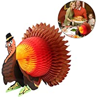 Tinksky Thanksgiving Turkey Tissue Honeycomb Centerpiece Table Decoration for Thanksgiving Party Suppliers
