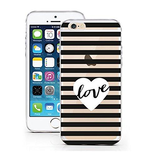 iPhone 6 6S cas par licaso® pour le modèle Don't worry Beyoncé Chanteur la Musique TPU 6 Apple iPhone 6S silicone ultra-mince Protégez votre iPhone 6 est élégant et couverture voiture cadeau Black White Stripes Love Heart