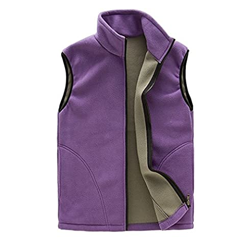 CIKRILAN Women's Fleece Vest Soft Comfort Lightweight Full Zip Sleeveless Jacket Gilet Lady Body Warmer Outdoor Jacket (Large,