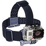 USA Gear Casque Tête Sangle Ceinture Elastique Fixation Bandeau Pour Caméra d'Action GoPro , Qumox , TecTecTec , SJCam Et Plus de Caméras Embarquées
