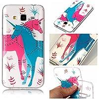 Cozy Hut Samsung Galaxy J3 Hülle, Samsung Galaxy J310 Case, Samsung Galaxy J3 2016 Schutzhülle Case Silikon, Kunst Malerei Muster Ultra Slim Transparent/Schützend/Weich/Ultra Hybrid/Schock