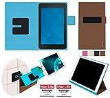 reboon Hülle für Dell Venue 7 Tasche Cover Case Bumper | in Braun | Testsieger