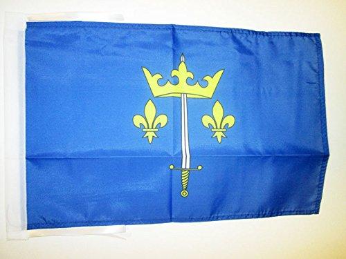 AZ FLAG Flagge Johanna VON Orleans 45x30cm mit Kordel - Jeanne D'ARC Fahne 30 x 45 cm - Flaggen Top Qualität