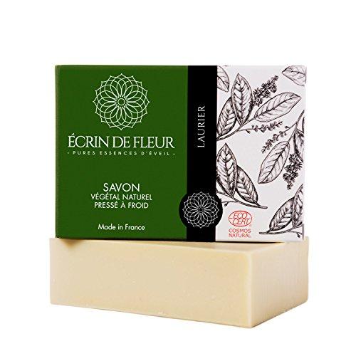 Reine Kastilien Seife (Écrin de Fleur zertifizierte Bio-Lorbeerseife - antibakterielle Olivenöl und Lorbeeröl-Seife - das ungiftige, SLS & chemikalienfreie Seifenstück, das die Haut geschmeidig macht und die Sinne beruhigt)