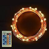Sunix GeminiR Guirlande Lumineuse LED Etanche avec110 Micro LED étoilées 11m décoration maison, Jeu de Lumière, Décoration Intérieure en Cuivre, Pour Noël, Mariages (Blanc Chaud)