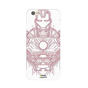 Hamee Original Marvel Character Licensed Cover Slim Fit Plastic Hard Back Case for Apple iPhone 6 Plus / 6s Plus (Iron Man / Circuit)