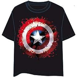 Desconocido Camiseta Capitán América Escudo logo talla M