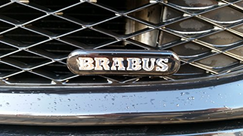 Preisvergleich Produktbild Smart Brabus Logo Emblem Schriftzug Badge für Kühlergrill 450 451 452 NEU