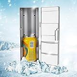 MAGT Mini Frigorifero, Mini Frigorifero USB Compatto Utili E Multifunzionali Lattine for Congelatore Bere Birra Dispositivo di Raffreddamento più Caldo Scaldabagno for Viaggi Auto Ufficio