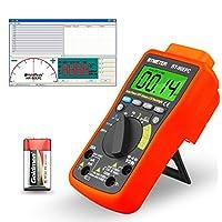 Digital Multimeter,BT-90EPC TRMS 4000 Counts Digital Multi Tester Ohmmeter Voltmeter Ammeter Auto Ranging Voltage Meter Tester for Current,Volt to 1000V,Resistance,Capacitance,Temperature,Battery Test