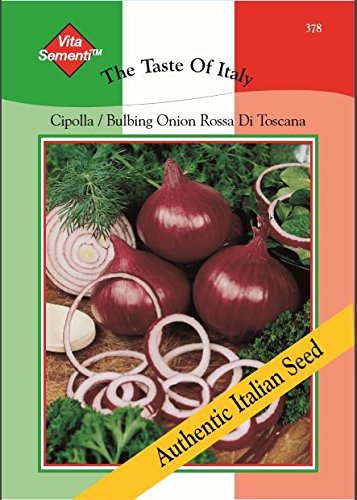 Thompson & Morgan, den Geschmack der Italien Gemuse Zwiebel La Cipolla Rossa de Toscana 840 Samen