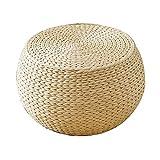 Softneco Rattan weben, Runde Gepolsterte futon Kissen ändern Schuh hocker Tatami Boden Sitz Kaffee Tisch Stuhl-A