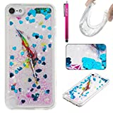 Cover iPod Touch 6,Apple iPod Touch 6 Custodia, Firefish TPU Gomma di Silicone Morbido, Brillantini Bling Sparkle Liquido Antiurto Protettivo Cover per Apple iPod Touch 6