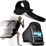 Samsung I9190 Galaxy S4 mini Universal Sport Armbänder mit dem Fahrrad Radfahren Fitnessstudio Joggen abzugewöhnen Armband Case Cover (Schwarz) von Spyrox