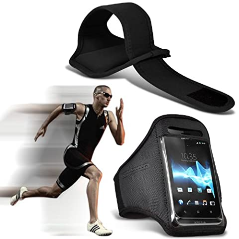 Fone-Case ( Black ) Samsung Galaxy Note 4 étui Cover Case Brand New Sports brassards exécutant Vélo cyclisme gymnastique Jogging débarrasser bande bras couvercle de carter